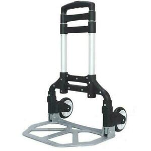 Portable Luggage Cart Aluminum Folding Hand Truck Dolly Warehouse Trolley 170 Lb