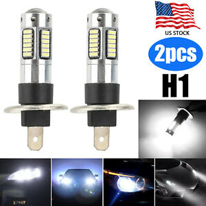 2x H1 30 Smd White Led Projector Bulbs 6000k Drl Driving Fog Lights High Beam