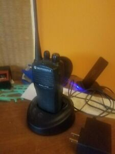 Motorola Cp200d Radio And Charger Business Or Personal Hand Held Portable