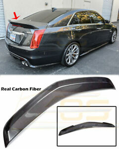 For 2016 Up Cadillac Cts V Carbon Fiber Rear Trunk Spoiler Wing Carbon Package