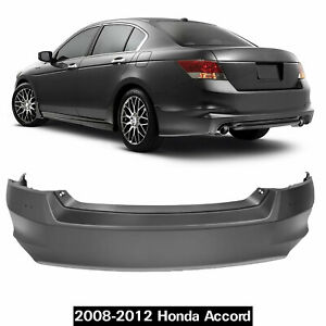 Rear Bumper Cover For 2008 2009 2010 2011 2012 Honda Accord Sedan New Primered