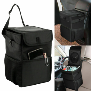 Auto Car Waterproof Trash Bag Litter Bin Can Garbage Storage Organizer Box Us