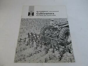 1961 Ih Mccormick Rear mounted Cultivators Fast hitch 3 point Hitch Brochure