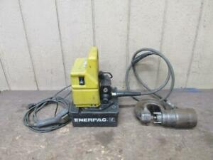 Enerpac Pud1100b Portable Electric Hydraulic Pump W 35 Ton Punch 10 000 Psi