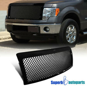 For 2009 2014 Ford F150 Truck Black Abs Honeycomb Mesh Front Bumper Grille 1pc