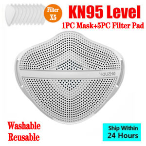 Adult Face Mask Separate Mouth Nose With 5pcs Filter Gasket Reusable Washable