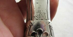 Rare Antique George Iii Paul Storr Silver Carving Cutlery Crest Hippocampus