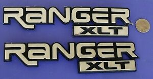 Ford Ranger Xlt Script Emblems Chrome Pair Oem Badge 89 05 Rh Lh Fender F67b