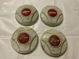 1964 1966 Chevy Truck Dog Dish Center Caps Hubcaps Wheel Covers Painted Bowtie