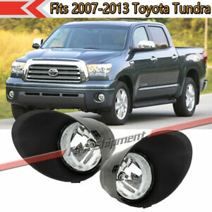 Fits Toyota Tundra 2007 2013 Clear Lens Halogen Bumper Fog Lights Lamps W covers