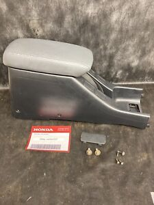 94 01 Acura Integra Oem Center Console Armrest With Grey Leather Lid Black