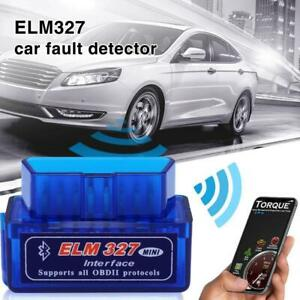 Elm327 Obd2 V2 1 Car Bluetooth Diagnostic Scanner Android Smartphone Torque