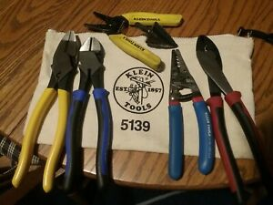 Klien Tools Pliers And Cutters 7 Piece Lot