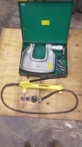 Greenlee 1732 Hydraulic Knockout Punch W Case Dies Enerpac P 39 Pump Nice