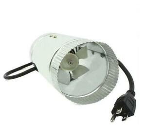 4 Inch Inline Duct Booster Fan Exhaust Blower Cooling Ventilation