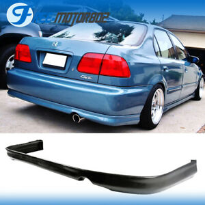Fits 96 98 Honda Civic Rear Bumper Lip Spoiler Bodykit Pu