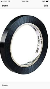Tartan Tensilized Poly Strapping Tape 860 2 8 Mil 3 4 x60 Yds Black 96 case
