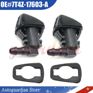 2x Front Wiper Sprayer Windshield Washer Nozzle For Ford Focus Edge Lincoln Mkx