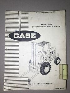 Org Case 530 Construction King Forklift Parts Catalog 918 Dated March 1964 C3