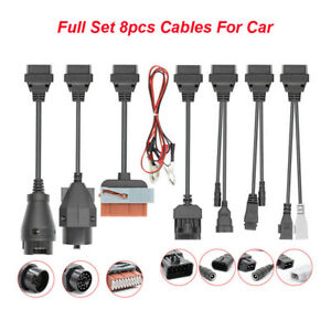 Full Set 8pcs Car Cables Adapter Obd2 Ii Cdp For Autocom Cdp Pro Car Diagnostic