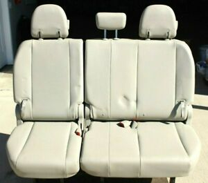 2011 2013 Toyota Sienna Rear 3rd Row Left And Right Seat Assembly Leather Manual