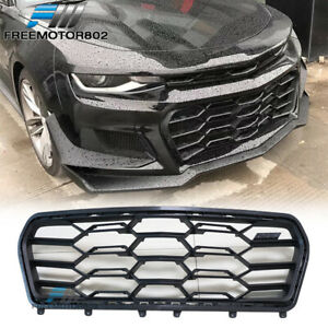 Fits 16 18 Chevy Camaro Zl1 1le Style Front Bumper Honeycomb Insert Grille Pp