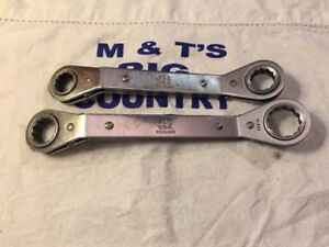 Mac Tools 12pt Double Box Ratcheting Ratchet Wrenches Row20222 Row24282