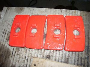 Vintage Fordson Major Diesel Tractor 4 Rear Wheel Weight Clamps