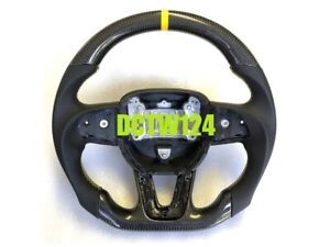 Real Carbon Flat Steering Wheel Dodge Charger Challenger Rt Scat Pack 15 Color