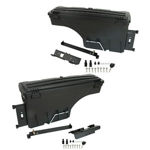 Rear Left right Side Truck Bed Storage Box Toolbox For 2007 2020 Toyota Tundra