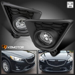 For 2013 2016 Mazda Cx 5 Driving Bumper Clear Fog Lights Lamps switch Left right