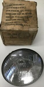 Ww2 Guide Lamp 7 Sealed Beam 6 8 Volt Headlamp N o s