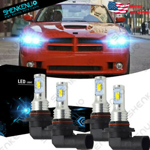 For Dodge Charger 2006 2007 2008 2009 2010 Hi Lo Beam Led Headlight Bulbs 8000k