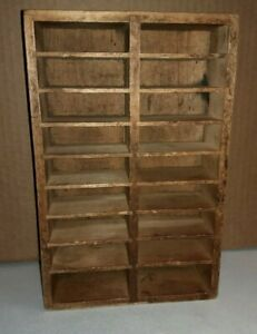 Vintage Wood Divided Shelf For Tiny Miniature Treasures Very Sturdy