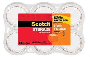 Scotch Long Lasting Storage Packing Tape With 6 Rolls 1 88 X 54 6 Yds 3650 6