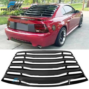 Fits 99 04 Ford Mustang Ikon Style Gloss Black Rear Window Louver Cover