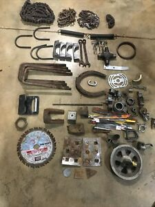 Misc Scrap Metal Chains saw Blades pullies And More 1