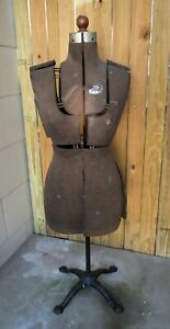 Antique Acme Dress Form Size A Adjustable Victorian Cast Iron Base