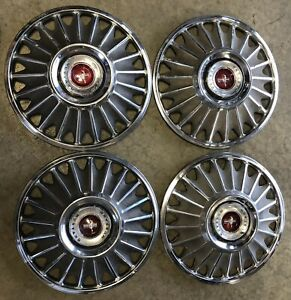 Vintage 1967 Oem Ford Mustang Hubcaps covers Set Of 4 Part C7a 1137