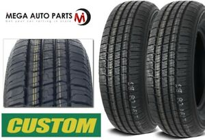 2 New Custom 428 A S P215 75r15 100s Wsw All Season Performance Tires