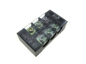 3 Position Screw Barrier Strip Terminal Block W Cover 25a 250v Pack Of 2