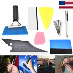 Car Window Tint Tools Auto Glass Protective Film Squeegee Scraper Install Kit