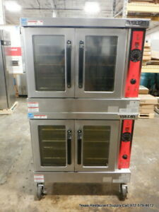 Vulcan Vc4gd 11d150k Gas Double Stack Convection Oven With Casters