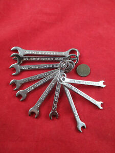 Craftsman Ignition Wrench Set Chrome 5 32 7 16 Mini Combination Wrenches Usa