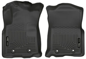 Husky Weatherbeater 1st Row Floor Mats Black For 2018 2021 Tacoma Automatic