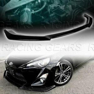 Painted Black Cs Style Front Bumper Splitter Lip Fit 13 16 Toyota 86 Scion Fr S