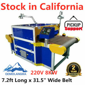 Us 8kw 31 5in X 7 2ft Conveyor Tunnel Dryer Screen Printing Dryer 220v