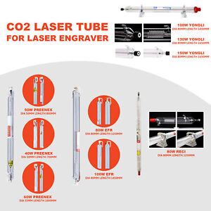 Co2 Laser Tube For 40w 150w Laser Engraving Cutting Machines Engraver Cutter
