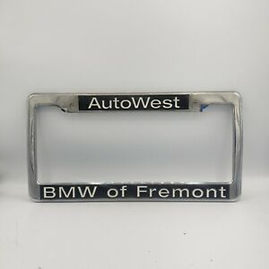 Bmw Of Fremont Auto West California Silver Plastic License Plate Frame