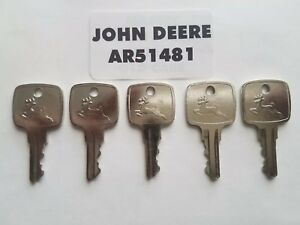 5 John Deere Ignition Keys Fits Many Jd Equipment Oem Ar51481 Fast Shipping